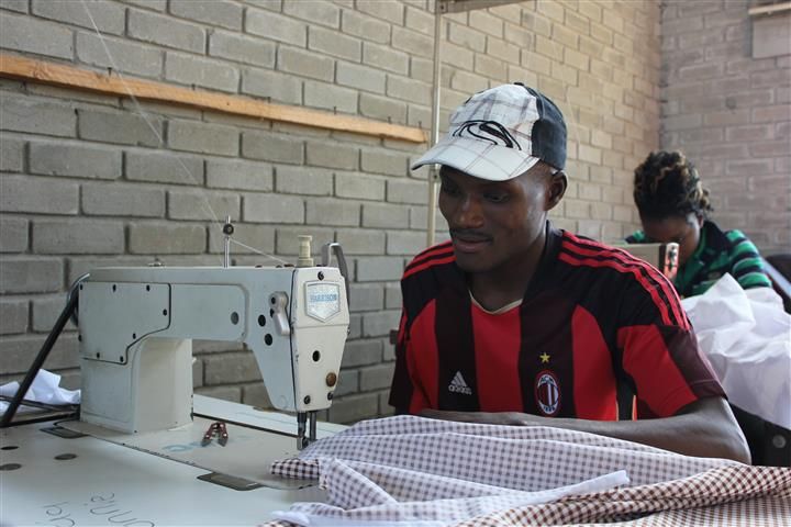 Tendai Mvurume, a past student of Young Africa Chitungwiza had access to a micro creedit loan and now runs his own business (Zim)