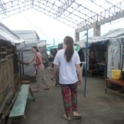 Visiting people in temporary shelter (Small)
