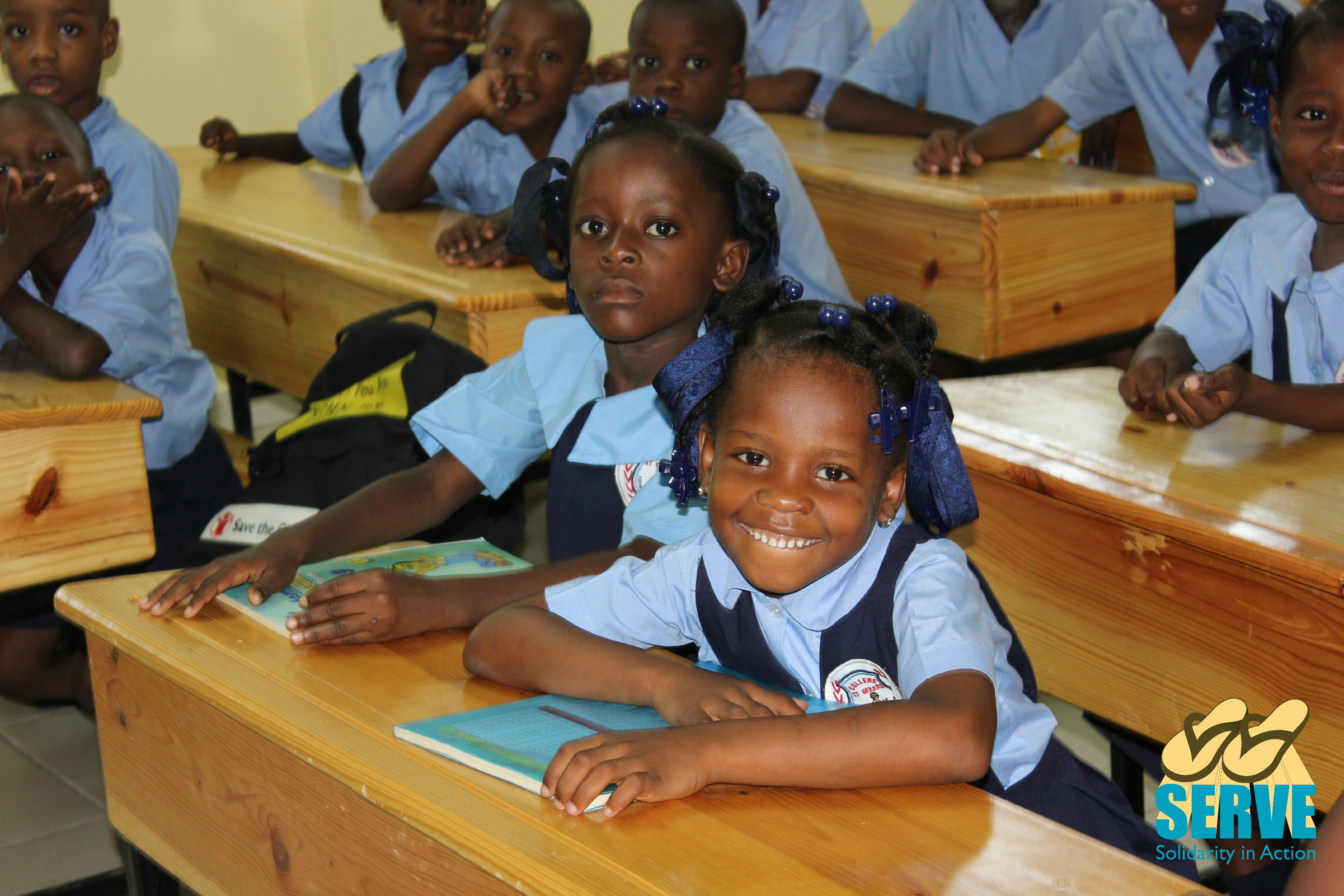 Student's at their first day in St. Gerard's Primary School