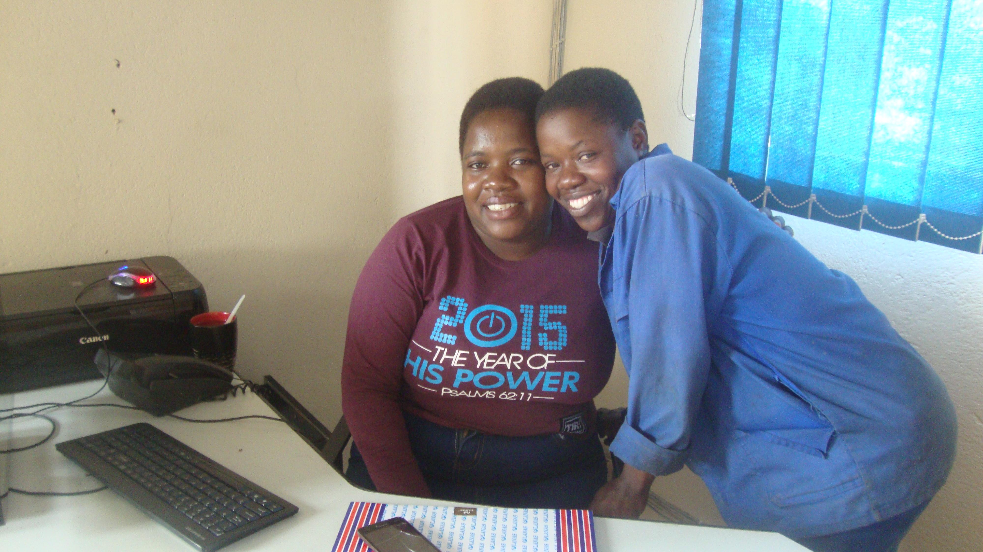 Giveth with Ms. Palmar, Harare, ZImbabwe
