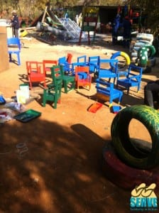 Chairs repaired and repainted for Angeliques creche