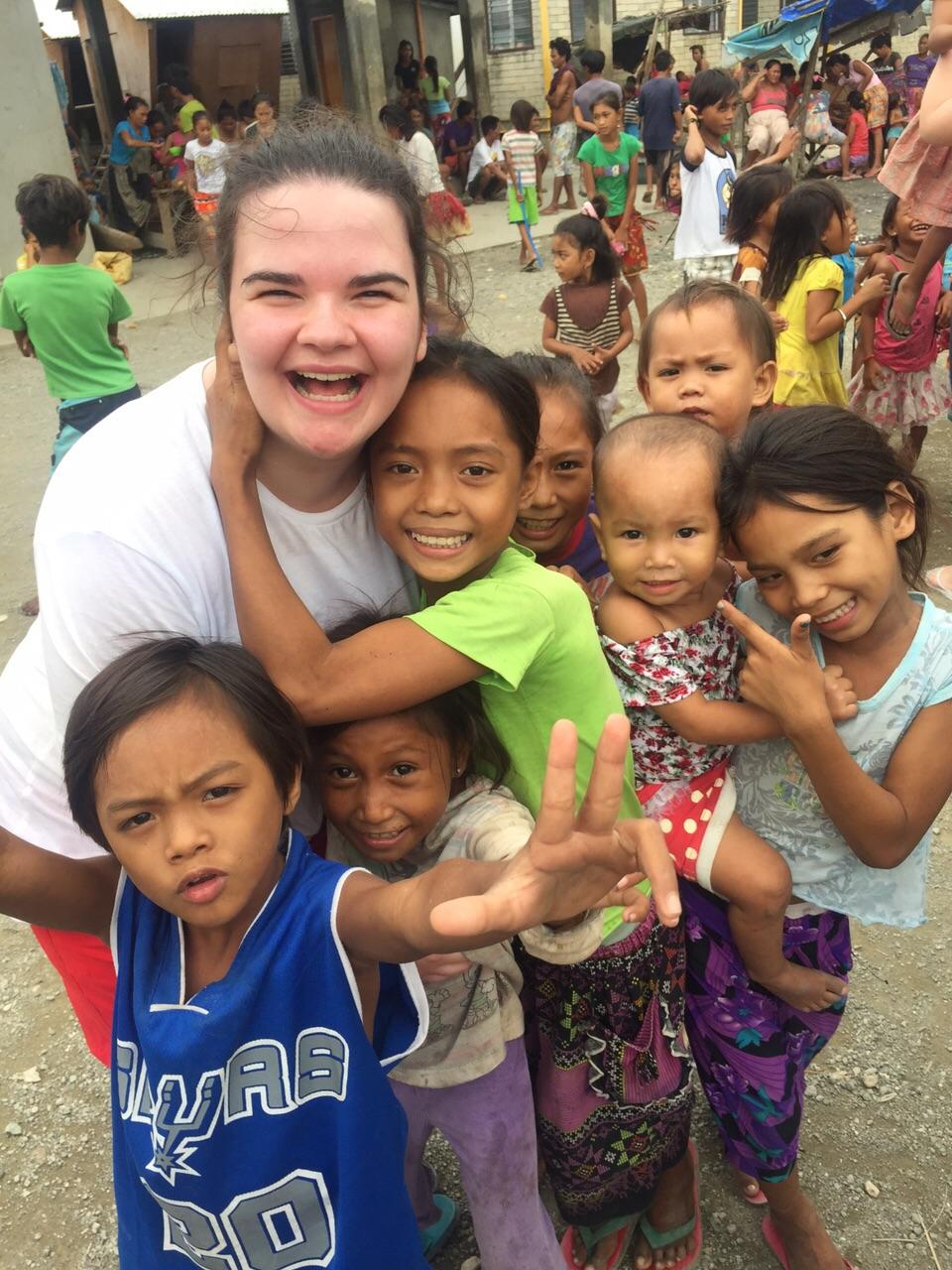 Fainche with Badjao children Cebu