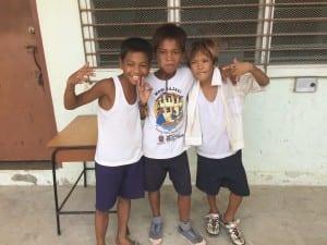 Rohet, Daniel & Gerard. Students of the school in the Badjao tribe.