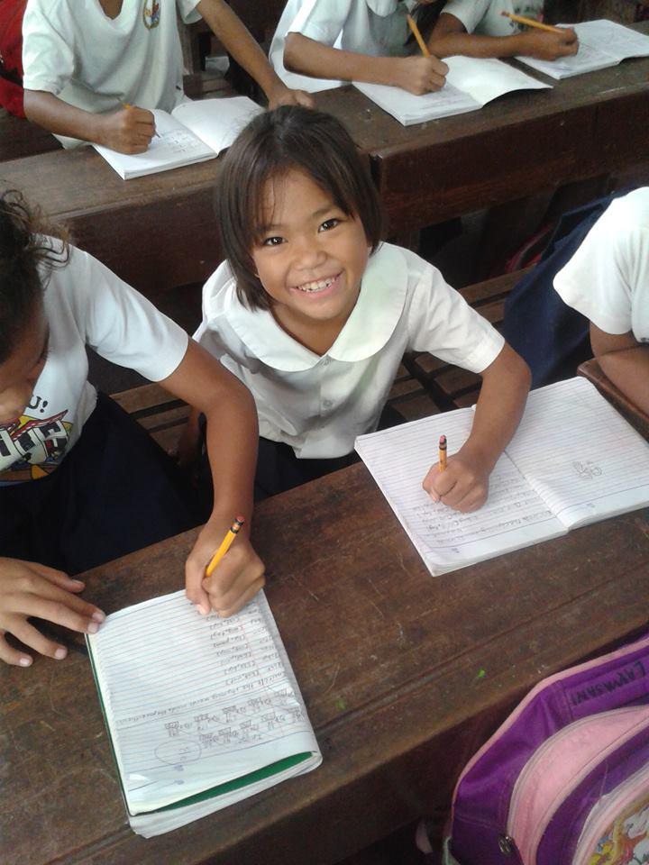 Badjao girl in elementary school