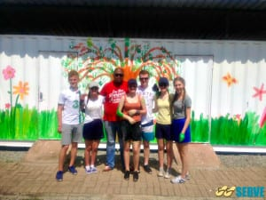 Coláiste Cois Life with Step up and Serve in Siza.