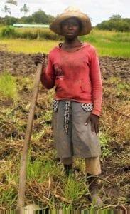 Maria Victorino Zondane at Young Africa Agri-Tech Dondo