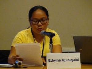 Edwina presenting at the UN