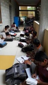 The boys doing homework
