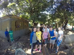 SERVE volunteers on the building site in Beira