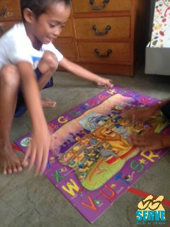 Aldrin completing his favourite jigsaw puzzle