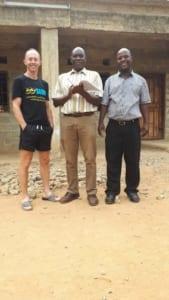 Darren and Principal of Luyolabola Assumption Parish, Mazabuka