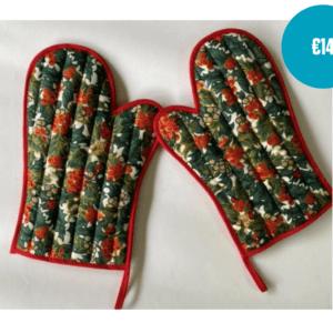 Handmade christmas oven gloves