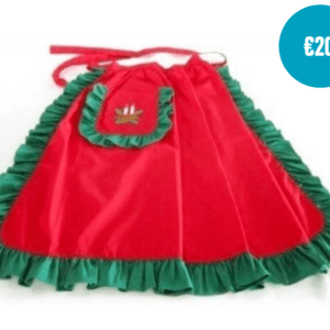 Half-sized handmade christmas apron