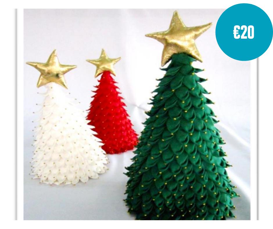 Handmade christmas tree tabletop decoration