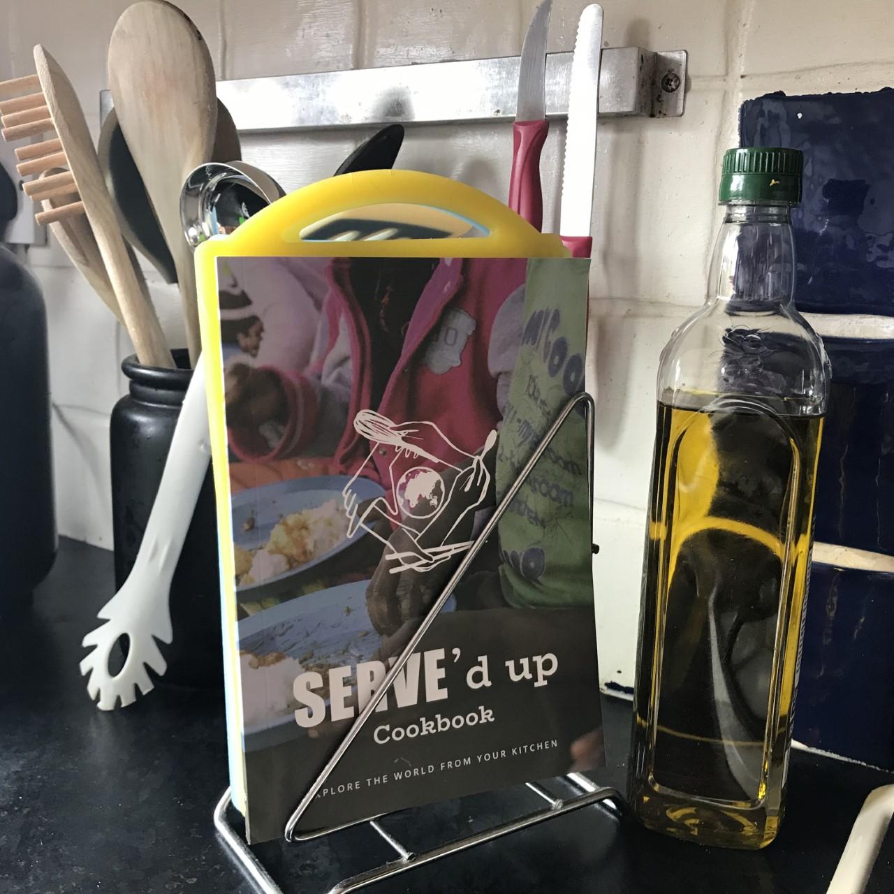 SERVE'd Up Cook Book Kitchen stand