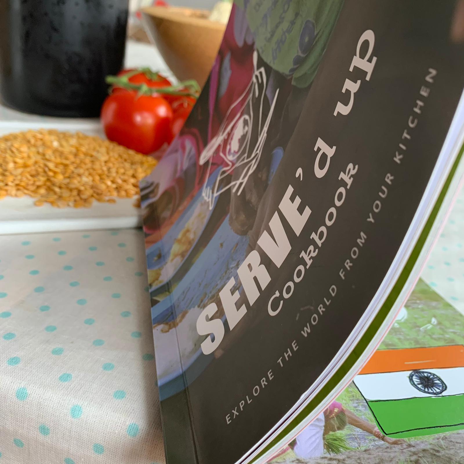 SERVE'd Up Cookbook front cover