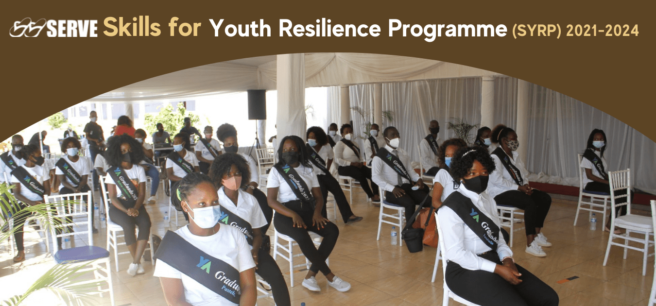 Skills for Youth Resilience SYRP Programme graduation photo at Young Africa