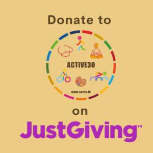 SERVE Active 30 Justgiving campaign