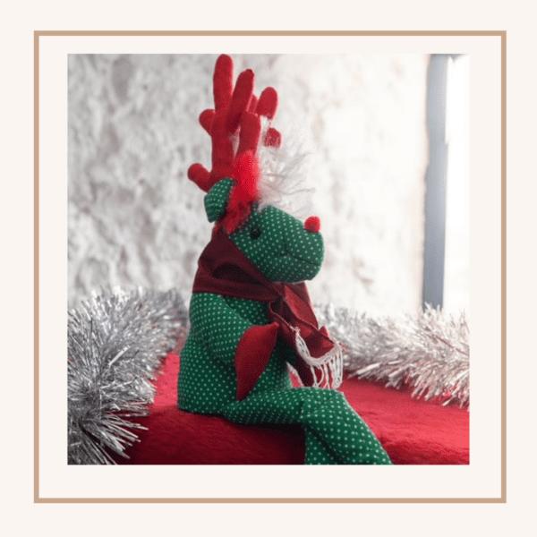Ethical Gift Handmade pair of rudolph ned nosed reindeer